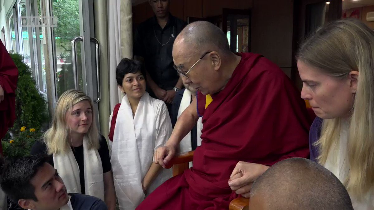 How We Create Problems for Ourselves - HHDL talks about how human beings create problems for themselves during his meeting with medical students from Tulane University in the USA at his residence in Dharamsala, HP, India on July 17, 2019.