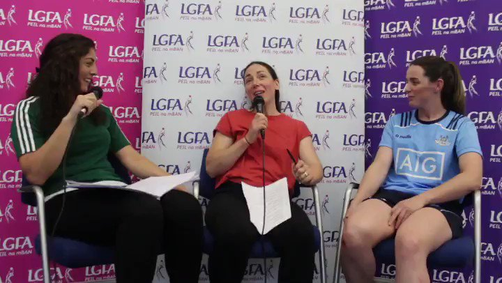 """🗣 """"I never played, I never knew anything about the sport. When I got involved at 23, I was completely hooked."""" Hear more from @dublinladiesg's 2010 @SportTG4 All-Ireland Senior Championship winning captain @DeniseMasterso6 on the LGFA Talk Show, coming your way this afternoon"""
