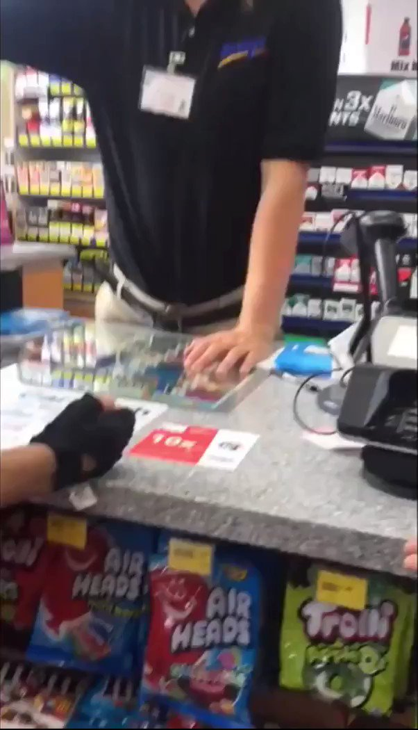 """Racist gas station clerk refusing to serve Latina women and tells them to """"Go Where They come From"""" or he will call """"ICE"""" because he is AMERICAN. Napperville, IL"""
