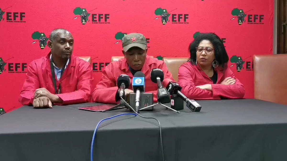 [In Case You Missed It]: CIC @Julius_S_Malema says everyone must go to the Zondo Commission but to share information, not to parade themselves #EFFpresser