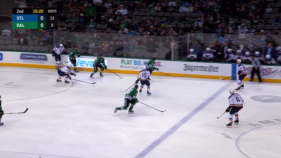 @jamiebenn14 @HeiskanenMiro February 21, 2019: Miro connects with Jamie on this insane pass. 77 days until October 3, hang in there yall. #GoStars
