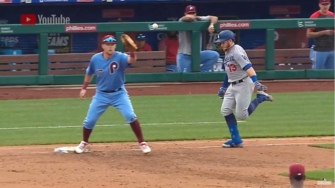 Video: Los Angeles Dodgers Star Steps On Phillies Star Rhys Hoskins