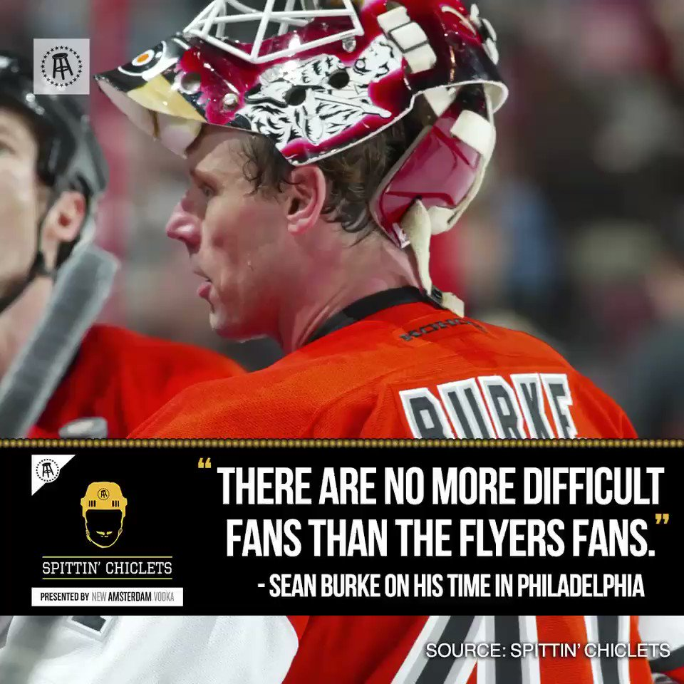 """""""There are no more difficult fans than the Flyers fans"""" -@SBurkie1   https://podcasts.apple.com/us/podcast/spittin-chiclets/id1112425552?i=1000444668888…"""