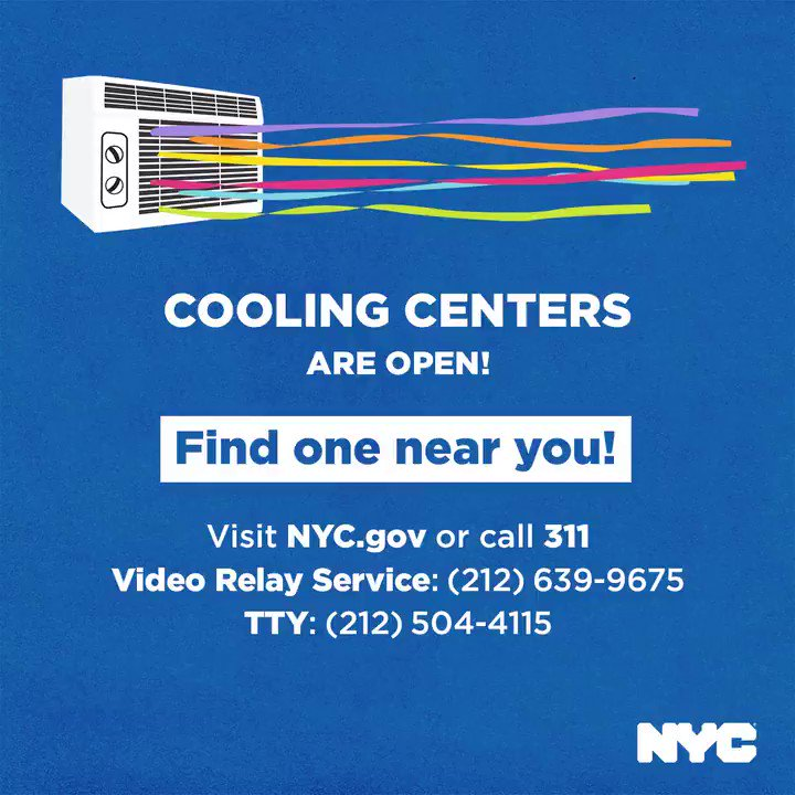 Image for the Tweet beginning: There are 500 Cooling Centers