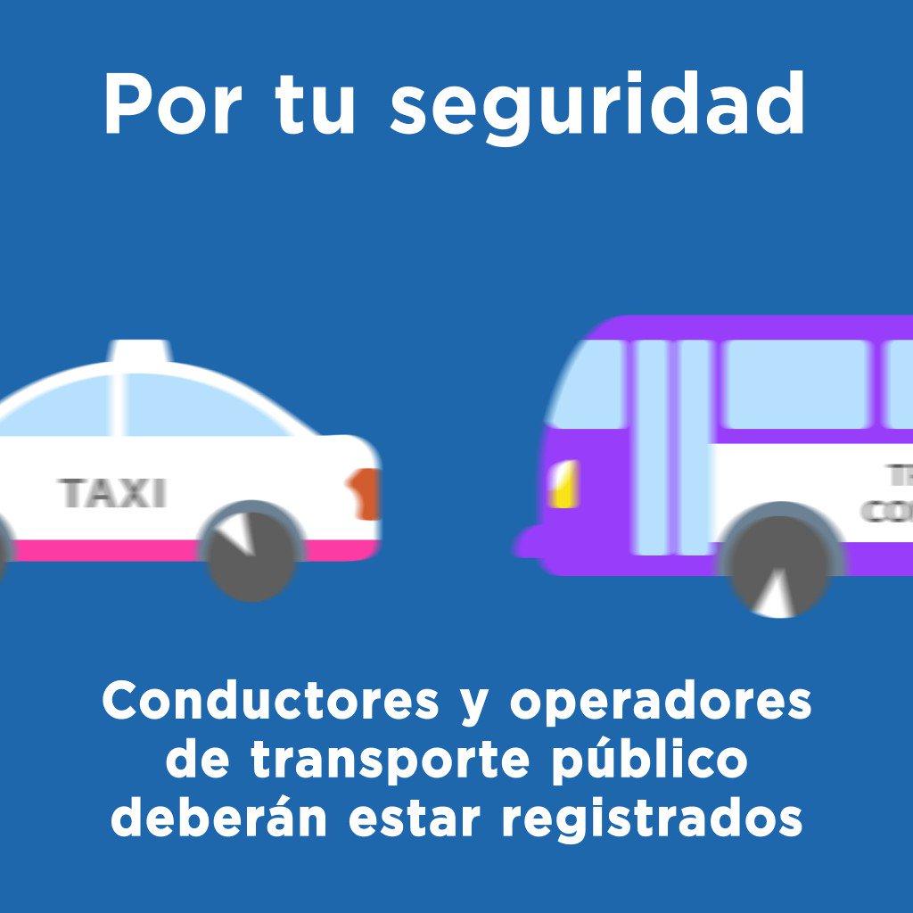 """Vamos por un transporte seguro para todas y todos. Conoce el """"Programa de Registro de Operadores de Transporte Público en la Ciudad de México"""". #CiudadSegura"""