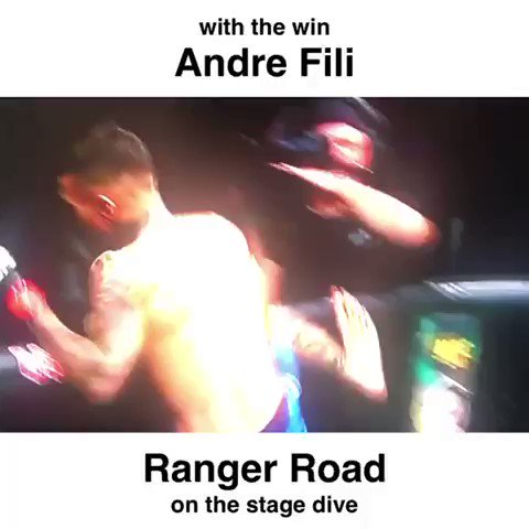 Here's a cool video clip of #UFCSacramento Fighter, @TouchyFili jumping out of the #octagon to #celebrate his #victory last weekend, with our #RangerRoad #Veterans. Pretty cool! 🙌🏻 #UFC #TeamAlphaMale @ufc  #TogetherWeAreStrong