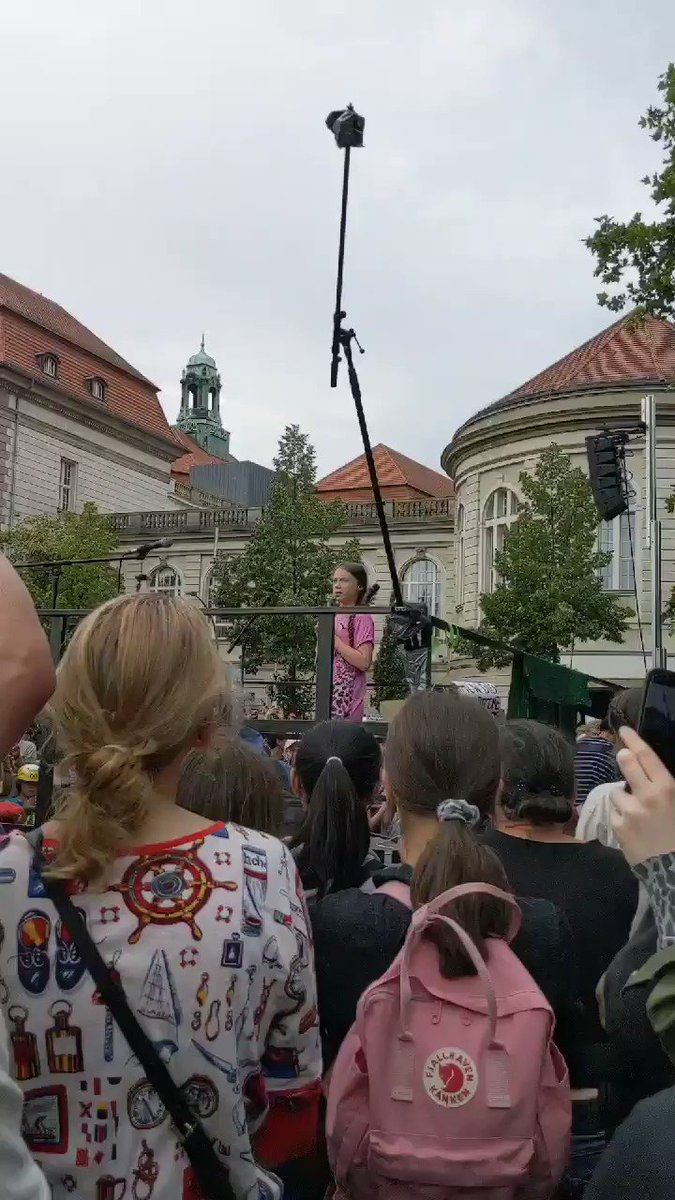 I know for sure that I will never give up, and I hope that you will not either. Because this is a question of life and death. We will keep fighting because we know what is at risk. @GretaThunberg speaking at @FFF_Berlin ✊ #FridaysForFuture