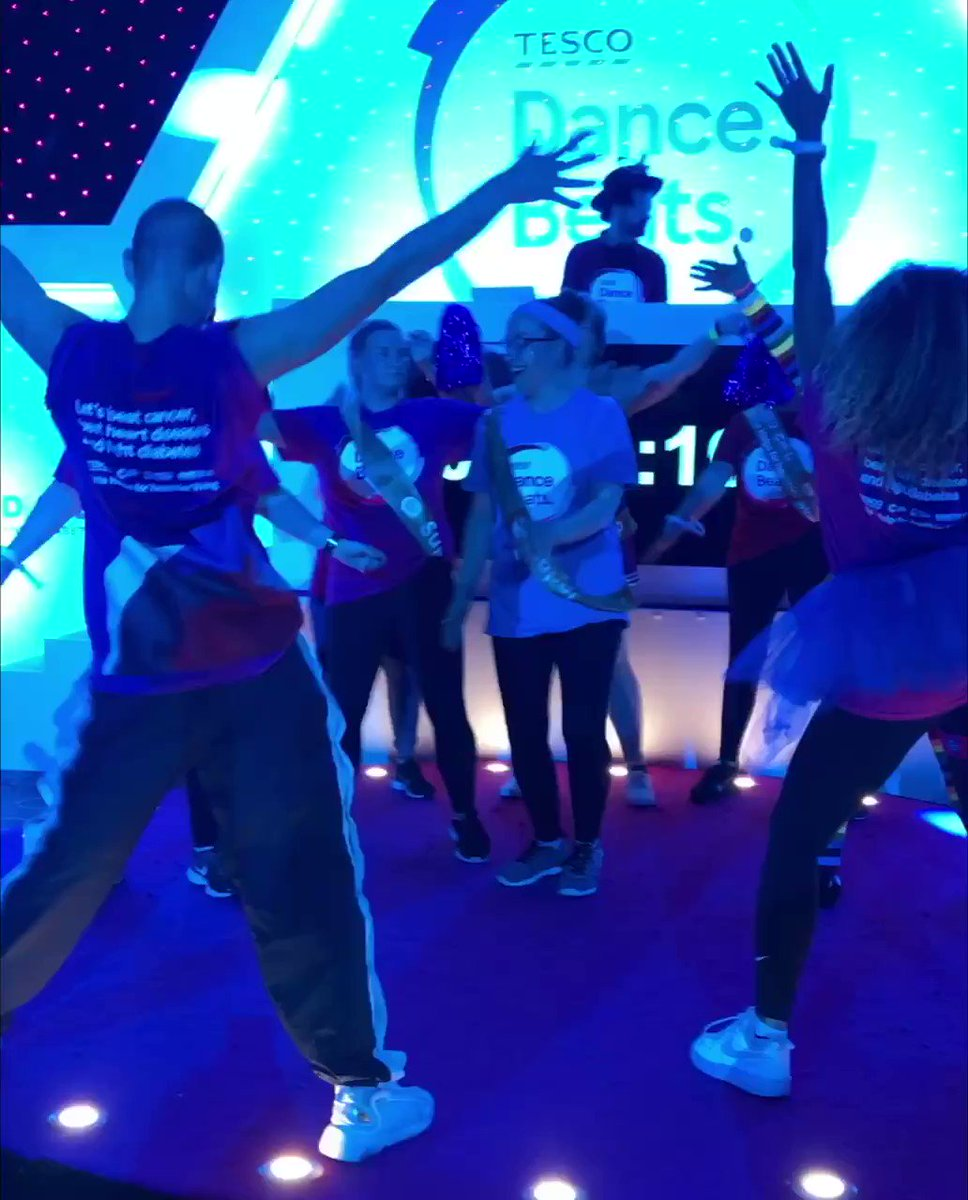 💃 🕺 The #TescoDanceBeats world record attempt is well underway. Remember, upload a video of your moves with the hashtag #TescoDanceBeats and @Tesco will donate £10 to support vital work done by us, @DiabetesUK and @TheBHF! You can also text DANCE to 70507 to donate £5 🙌