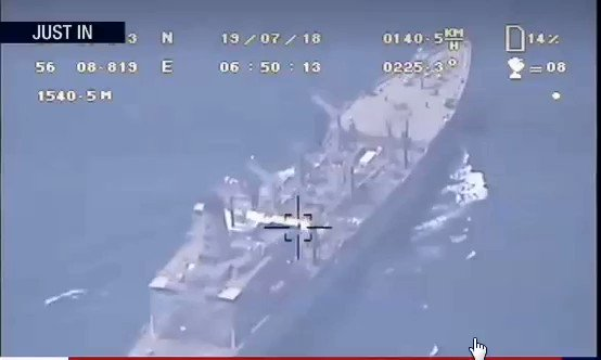 RT @FieldMarshalPSO: First footage that captured by Iranian drone from USS Boxer released few minutes ago: https://t.co/MF2VJtxZG6
