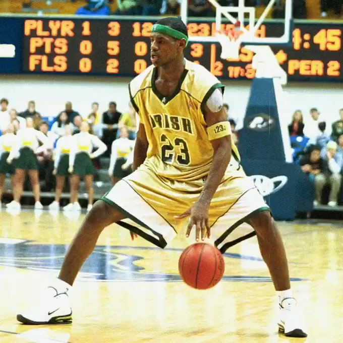 When @KingJames often ended high school games in the 1st half.