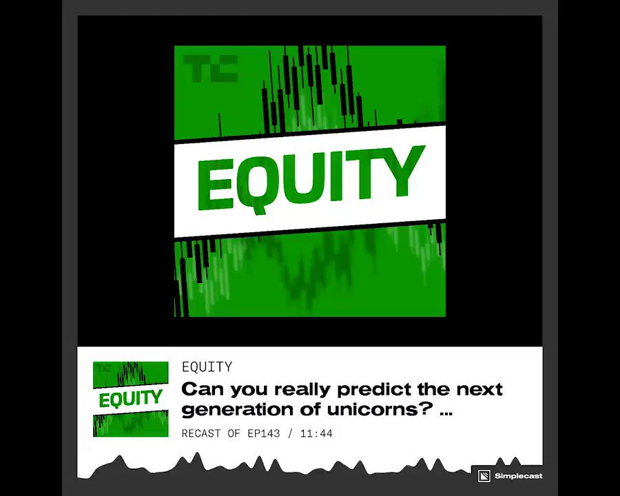 On this week's episode of #EquityPod, @alex and @kateclarktweets ask 'Can you really predict the next generation of unicorns? Listen to the full episode here: https://tcrn.ch/2Y0XlrO
