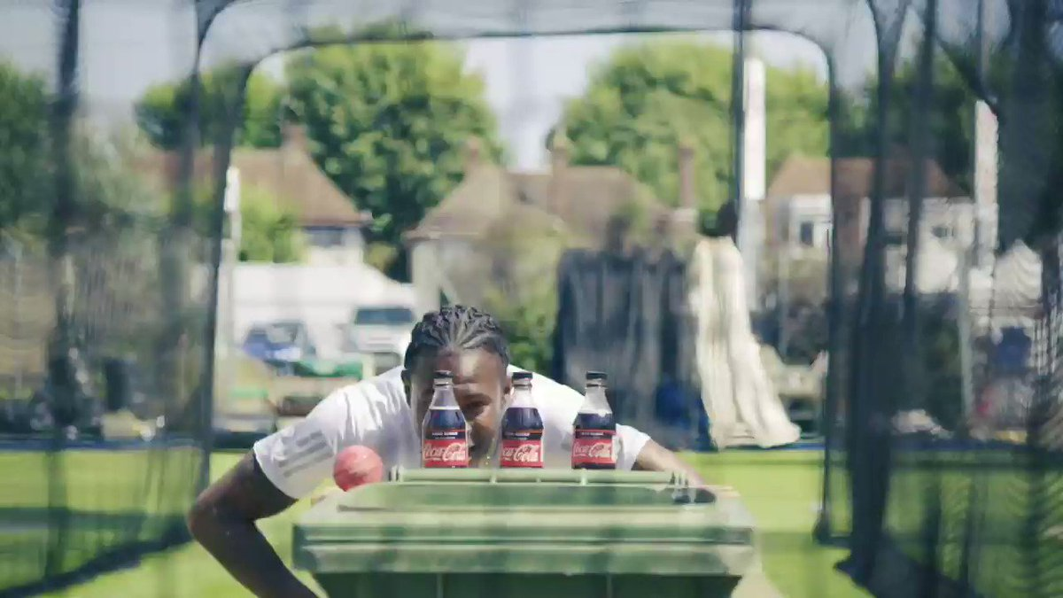 Check out this ♻ version of the #bottlecapchallenge for Coca-ColaWhen you recycle your empty bottles, remember to keep the cap on!#challengeaccepted #recycle #cricket #ad
