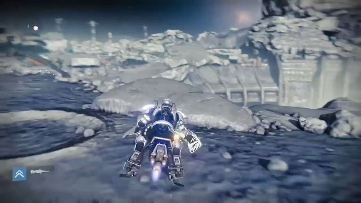 Image for the Tweet beginning: @DestinyTheGame Sparrow jumping across the