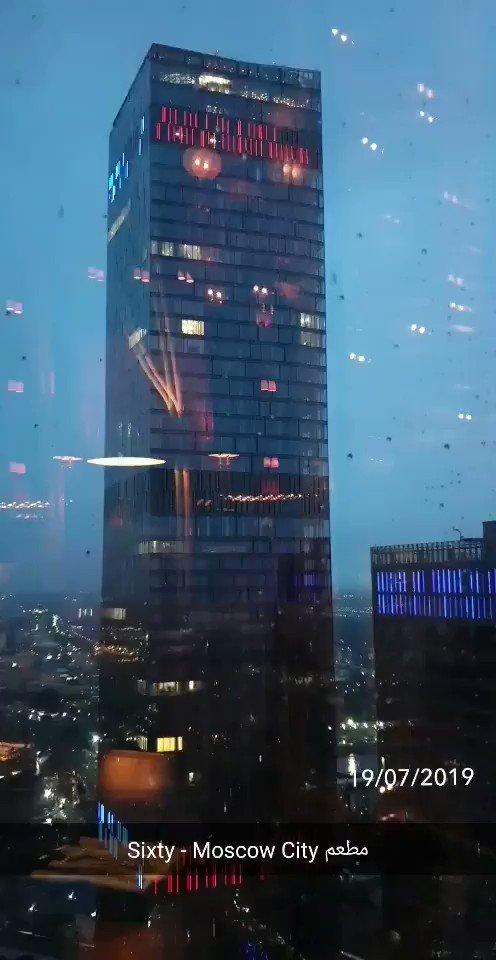 #تصويري_سناب من الطابق ٦٢ للناطحة ⛈🌨🌩#موسكو