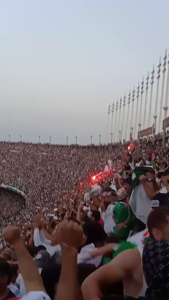This is how Algerian supporters watched the match at Stade 5 Juillet today.