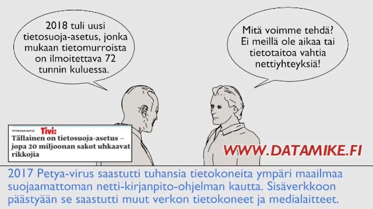 Image for the Tweet beginning: Hyvää #huomenta. #Tekoäly tulee kaikkiin
