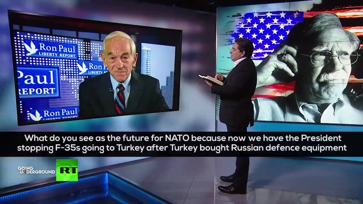 'NATO has been convenient for us and others in the West to continue the animosity toward Russia🇷🇺, to make sure that we have an enemy to defeat to make more money selling WEAPONS' -@RonPaul argues for NATO's dissolution! TODAY ON RT! youtu.be/RMtlpXylqkc