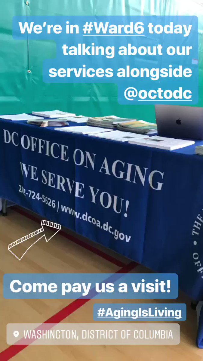 #Currently at the Arthur Capper Community Center in #Ward6 sharing about our services & programs, alongside @OCTODC. #StopBy for some great information! 📓 – at Washington Navy Yard