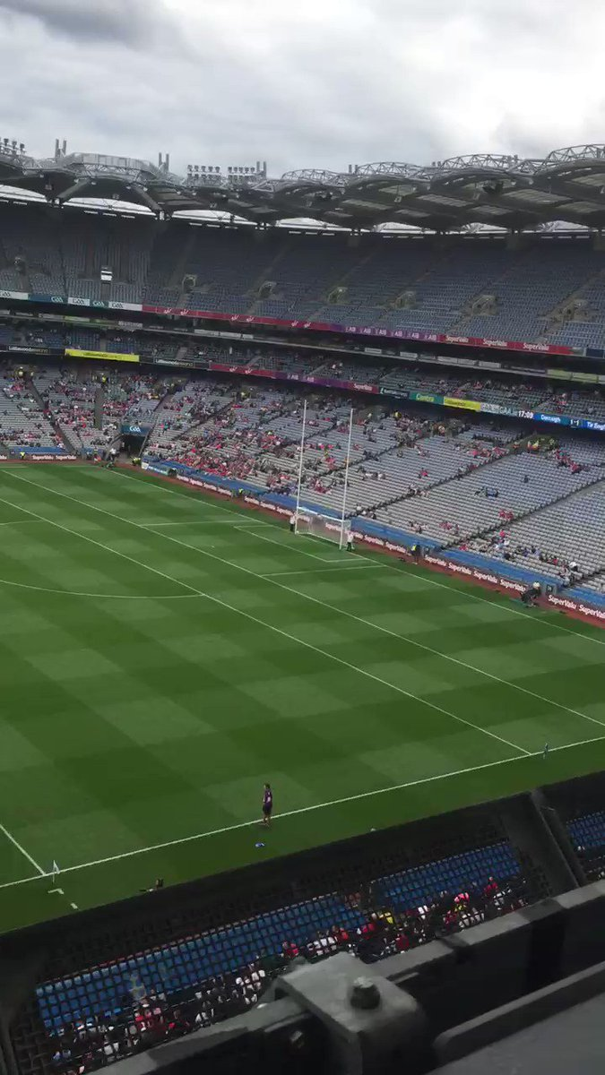 Where is everyone...? When Niall Morgan goes up to take a free...#TYRONE v #CORK