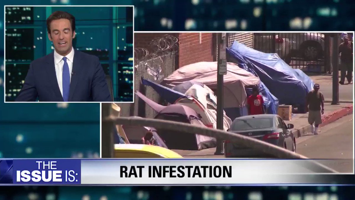 """CA has a rat infestation spreading Medieval diseases like typhus, per a new study.   @TomiLahren: """"homeless encampments & feces in the streets probably doesn't help much.""""  @LisaBloom: """"shame on us for having over 50K homeless people in L.A.""""  Full debate: https://www.youtube.com/watch?v=GVUc4B1blnc&feature=youtu.be…"""