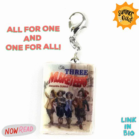 All for fun, and fun for all! 😉This summer, catch this swashbuckling adventure at a stage near you. https://buff.ly/2Y7nZAb  #thethreemusketeers #alexandredumas #threemusketeers #bookbeads #miniaturebook #polymerclaycharms #gifts #stnj #summerread #dartagnan #shakespearetheater