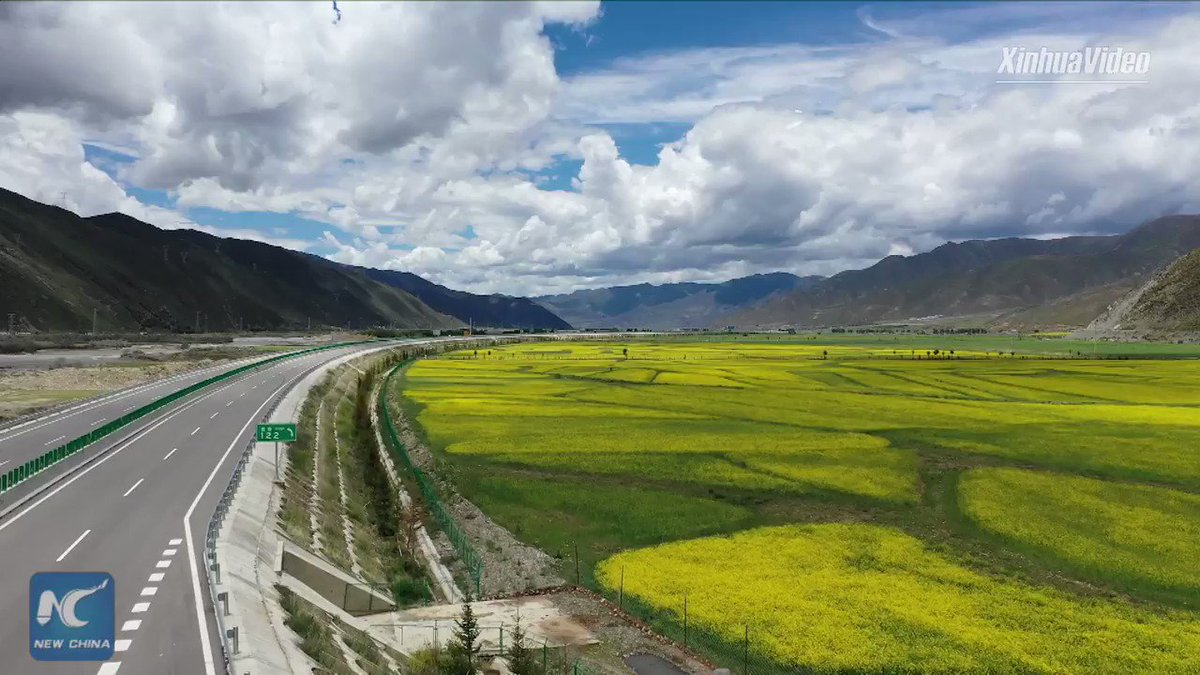 A scenic drive🚗: Breathtaking aerial view of Lhasa-Nyingchi highway in Tibet, SW China #FlyOverChina