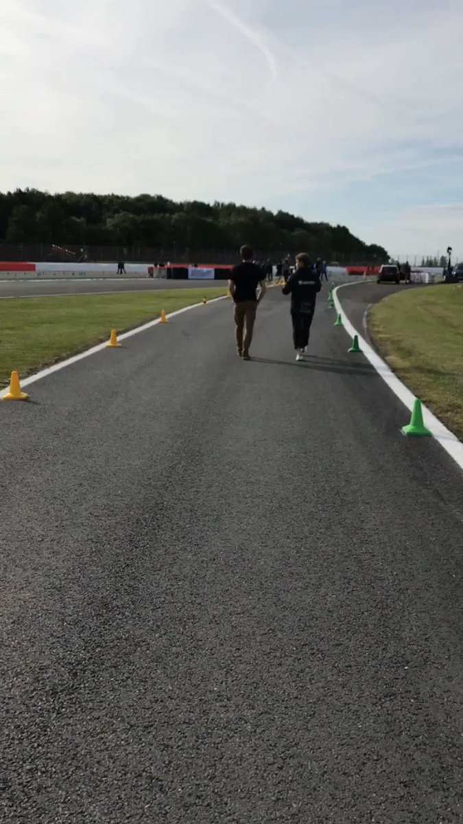 GOOD MORNING FROM @FormulaStudent ☀️ Drivers are taking a quick walk of the Endurance course before the day begins 💪 #FS2019