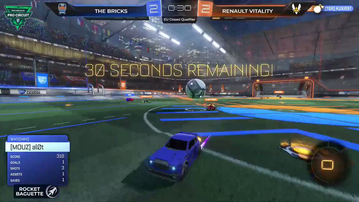 @NetSocialRT Says Watch: @TeamVitality Tweeted: One more game and the Renault Sport Team Vitality squad wins the match vs @TheBricksRL ✌💪 #RSspirit #VforVictory @RenaultF1Team   👉http://twitch.tv/rocketbaguette
