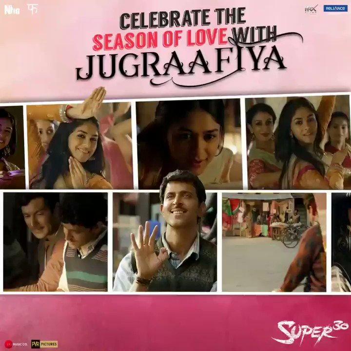 Add a dash of romance to your #SundayMood with #Jugraafiya. Watch #Super30 at a theatre near you.  http://bookmy.show/Super30 http://m.p-y.tm/supr30  @iHrithik @mrunal0801 @teacheranand @Shibasishsarkar #SajidNadiadwala @FuhSePhantom @NGEMovies @ZeeMusicCompany @super30film