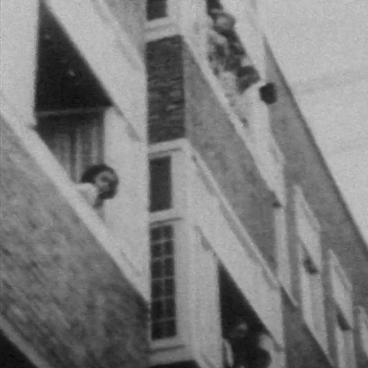 #OnThisDay in 1941, #AnneFrank was captured on film for - as far as we know - the only time in her life. She is leaning out of the window of her house in #Amsterdam to get a good look at the girl next door's wedding outside. #history #annefrankhouse