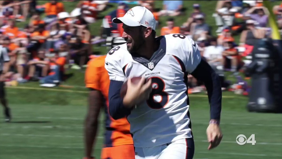 FOLKS it's time to start discussing kicker Brandon McManus(@thekidmcmanus) moving to safety🤯🤯🤯  Just an unreal kicker-pick-six🏈👐🏃‍♂️  #Broncos #BroncosCamp #BroncosCountry @CBSDenver