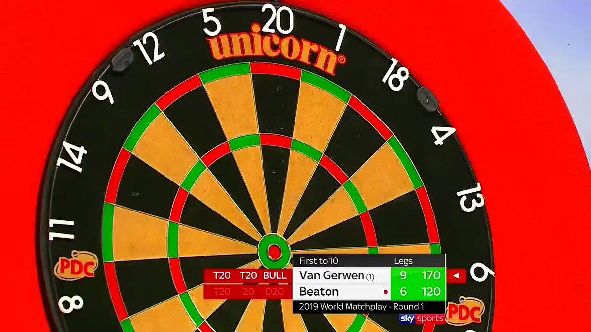 Michael van Gerwen verslaat Steve Beaton op World Matchplay
