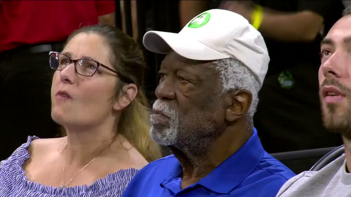 NBA legend @RealBillRussell sitting courtside at the @minnesotalynx vs. @LVAces game!
