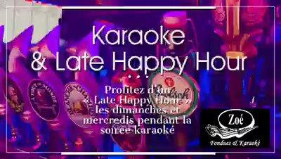 Pendant notre soirée karaoké profitez d'une 2e promo en fin de soirée sur toutes nos bières en fût les dimanches et mercredis. La pinte au prix du verre de 23h00 à 01h00. #zoekaraoke #karaokemtl #karaoke #latehappyhour #happyhour #barzoe