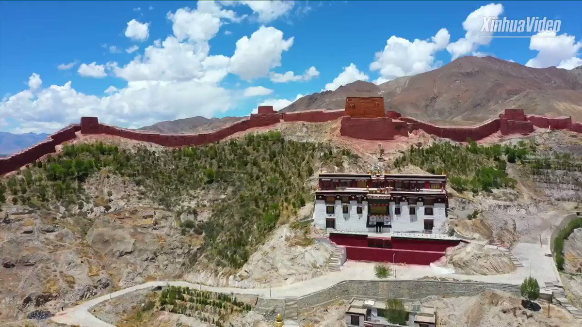 Gyangze County in southwest China's Tibet is known for its monasteries. One of the most famous is Gyangze Palkhor Chorten