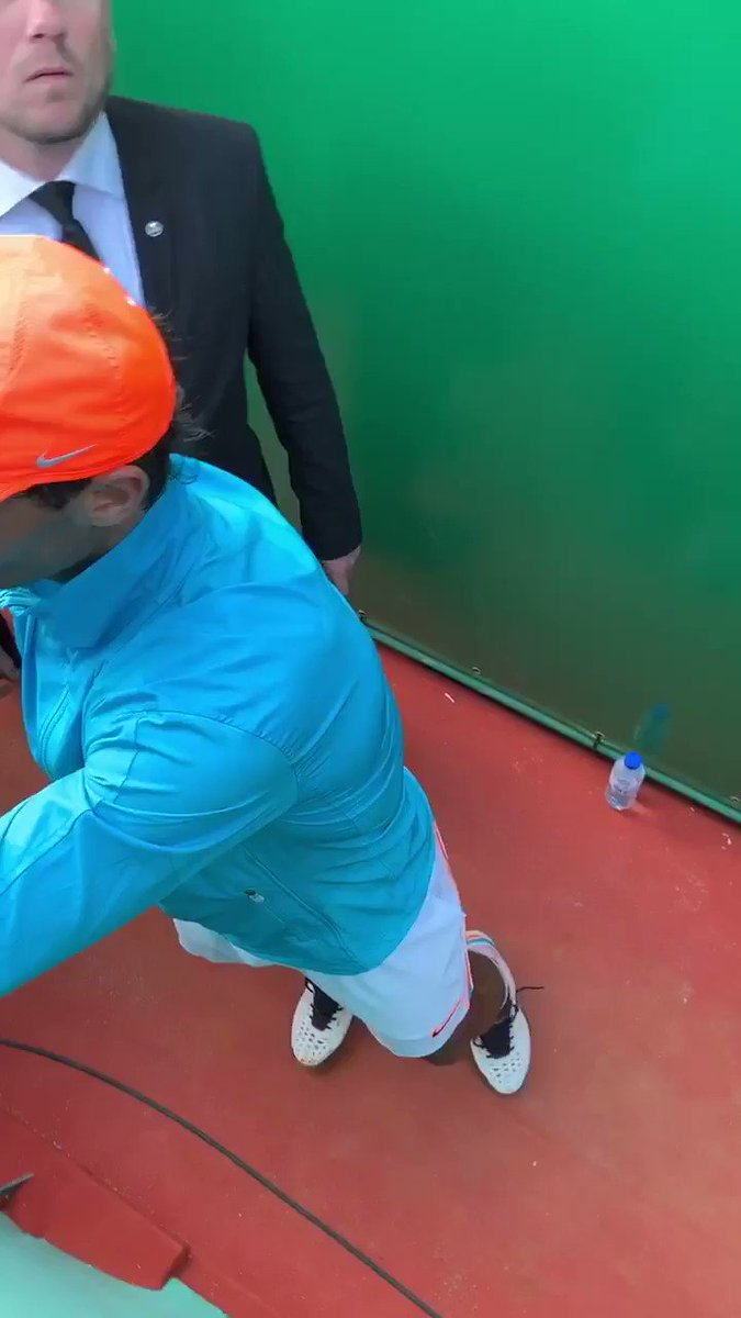 Didnt realize i had not shared this amazing moment yet on twitterHere is #rafaelnadal signing on my dampner from #babolat i purchased during #montecarlomasters 2nd autograph for me, 2nd time watched the legend from so close🤘🏻Dont miss the intensity of my Loud shout in the end