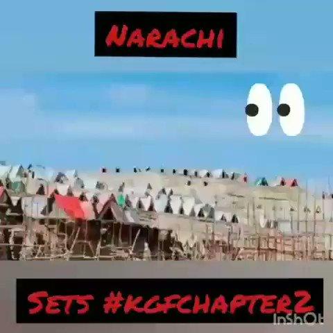 #KGFChapter2 shooting set of Narachi🔥🔥🔥