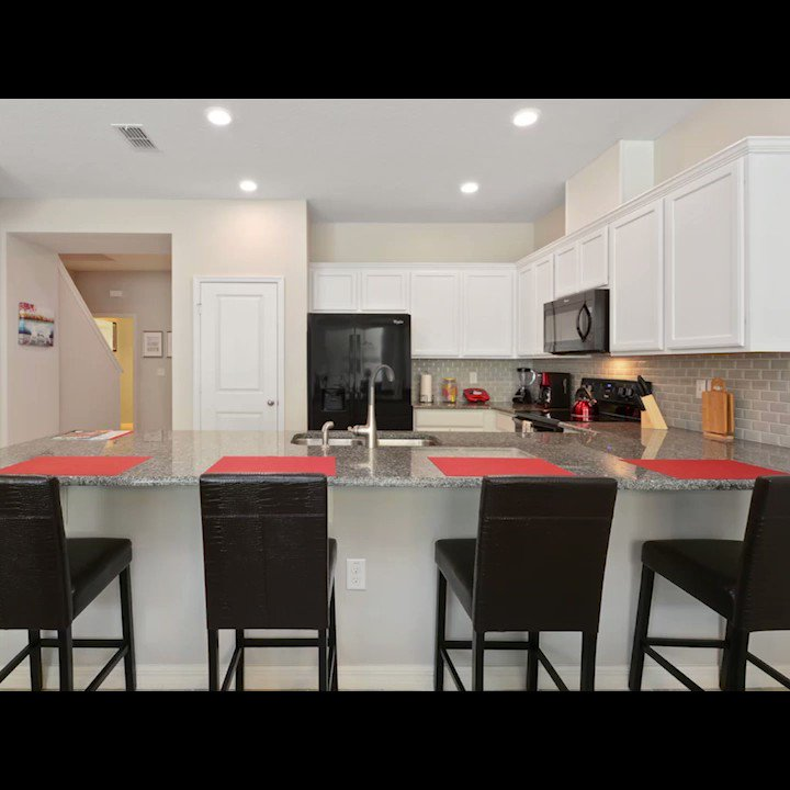 Cook up a wonderful breakfast to begin a new day in the #modern kitchen and dinning room of this 4 #bedroom for up to 8 #guests #vacationhome at Compass Bay #Resort #Orlando https://wondervacationhomes.com/properties/four-bedrooms-townhouse-at-orlando-area-disney-5125/…? #vacations2019 #halloween #attractions #summertime
