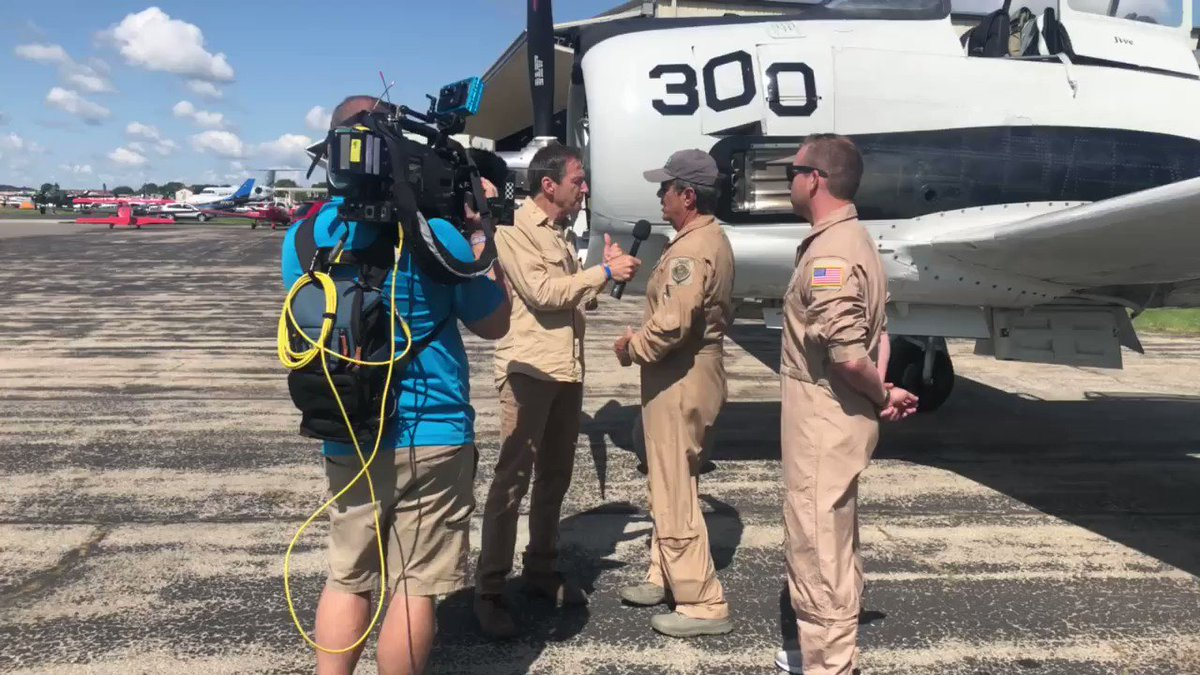 Media Day interviews with the #TrojanThunder & #WildBlue crews. ⠀ #OSH19 #50inOSH #EAA #AirVenture #WeLoveAirshows #airshow360 #airshow #avgeek #aviation #ICAS #instaplane