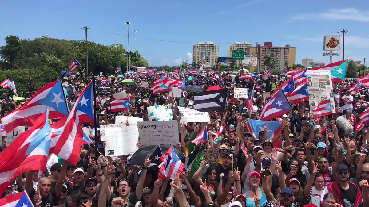 Puerto Rico governor protests update: David Begnaud reports from the ground as tens of thousands protest on the streets in San Juan
