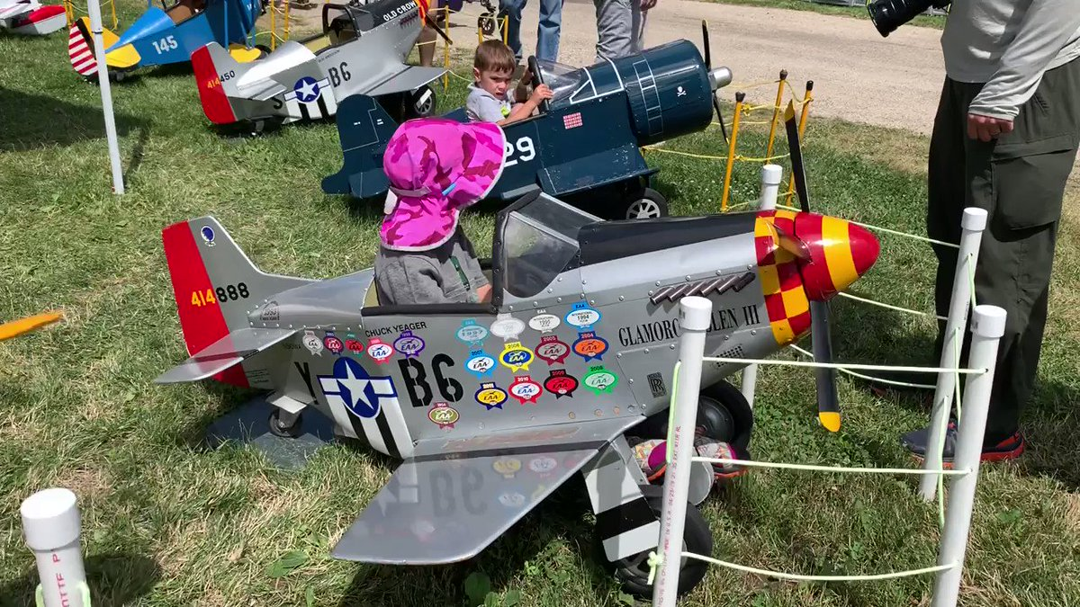 "Even the ""little ones"" are getting into the #aviation fun at #OSH19  #OSH19 #50inOSH #EAA #AirVenture #WeLoveAirshows #airshow360 #airshow #avgeek #aviation #ICAS #instaplane"