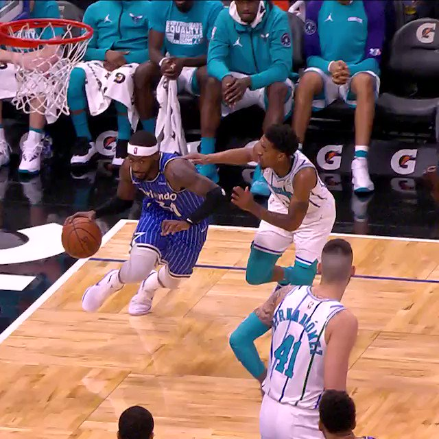 😱 TERRENCE ROSS 😱Rewind to February for #17... @FLIGHT8TROSS drives baseline and hangs for the @OrlandoMagic double-clutch reverse jam! #NBADunkWeek