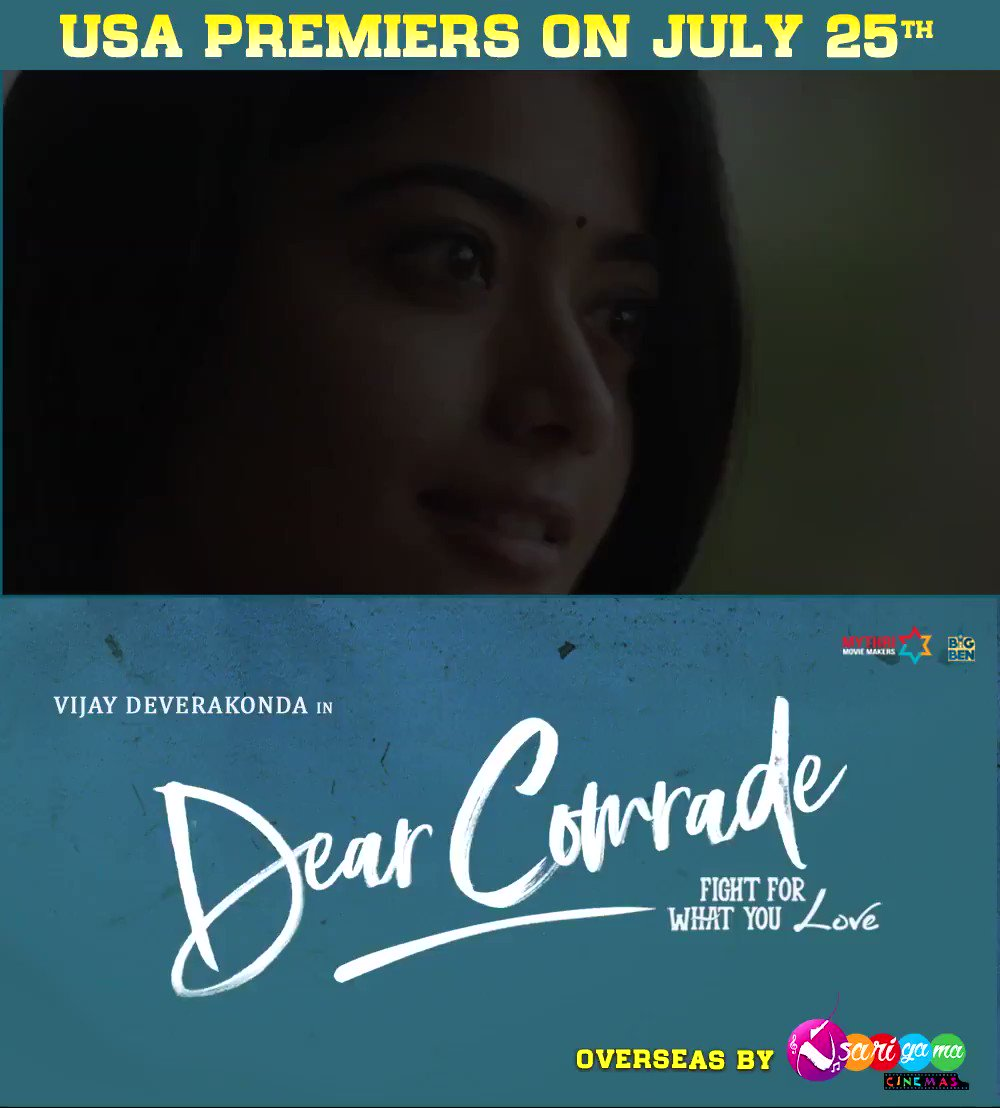Bobby & Lilly ❤️  Comrades, prebook your tickets to watch their beautiful love story 😍   #DearComrades   @TheDeverakonda @iamRashmika @bharatkamma @justin_tunes @MythriOfficial @YashBigBen
