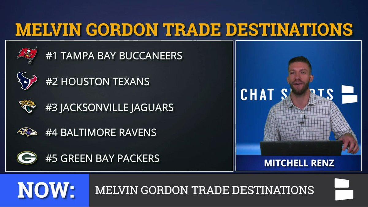 Melvin Gordon Trade Destinations: #1 Buccaneers #2 Texans #3 Jaguars #4 Ravens #5 Packers Watch Full Video: youtu.be/jG7H3T5EXTc 📺