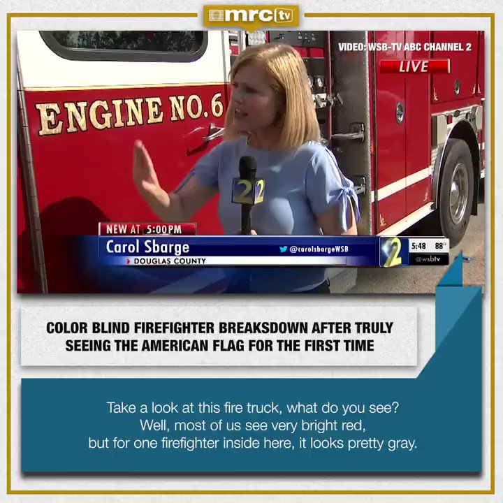 Colorblind Firefighter Emotional Reaction To Seeing The American Flag