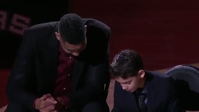 It's been three years since Tim Duncan retired. During the jersey retirement ceremony, Coach Popovich remembered Timmy for being the superstar the team needed.