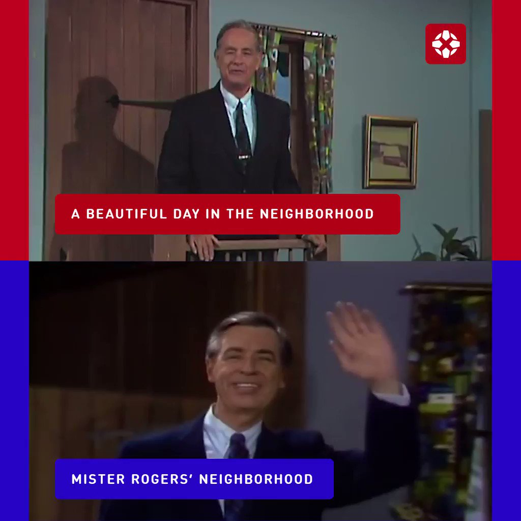 See how Tom Hanks compares to the real Mr. Rogers in A Beautiful Day in the Neighborhood.