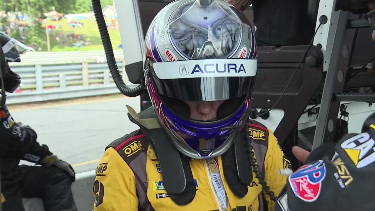The car doesnt know the difference! Great talking with @katherinelegge at @limerockpark #NortheastGP Shes part of a no gimmick all female race team, who gets along🙂and has a nicer smelling changing room😷@HeinricherRaces @MeyerShankRac @CaterpillarInc @WTNH