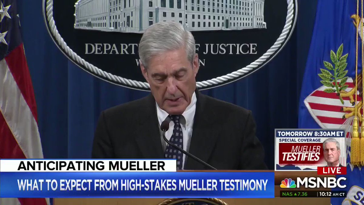 """Trump will claim exoneration tmrw no matter what, so pls RT this clip:  """"If we had confidence that the president clearly did not commit a crime, we would have said so. We did not, however, make a determination as to whether the president did commit a crime.""""  #MuellerIsAPatriot"""