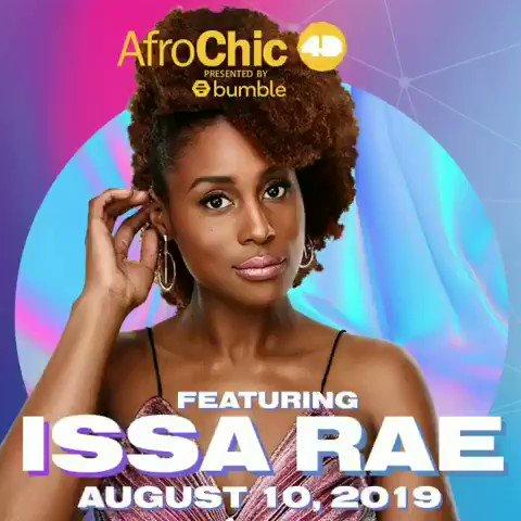 Issa Rae is headlining @AfroChicTO in Toronto. Get tix: bit.ly/2LyMH9Z